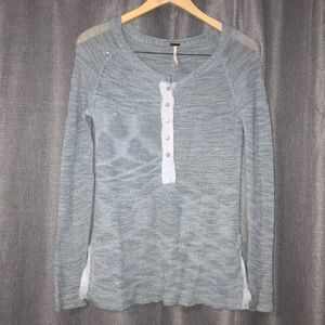 Free people faded blue sweater